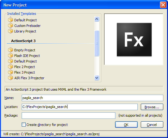 FlashDevelop Flex 3 Project