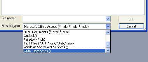 MS Access Linked Tables ODBC